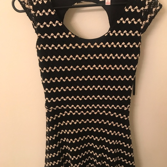 Candie's Dresses & Skirts - Candie's black and white fit and flare dress
